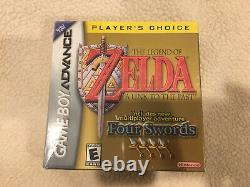 NEW SEALED Legend of Zelda A Link to the Past Four Swords Gameboy Advance GBA