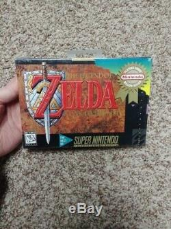 NEW The Legend Of Zelda A link To The Past Super Nintendo SNES Game SEALED