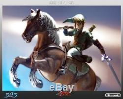 New First 4 Figures The Legend of Zelda Link on Epona Statue Nintendo Mario