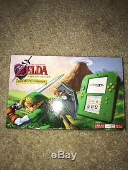 New Nintendo 2DS Link Edition Legend of Zelda Ocarina of Time 3D Free Ship