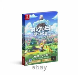 New Nintendo Switch The Legend of Zelda Link's Awakening Artbook Set Japan