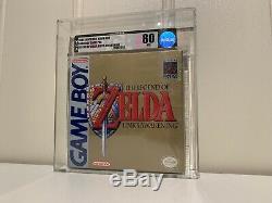 New Sealed Legend of Zelda Link`s Awakening Game Boy 1St Print VGA Graded 80 NM