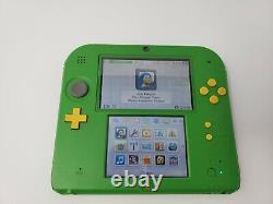 Nintendo 2DS Legend Zelda Ocarina of Time Green Link Console with Charger TESTED