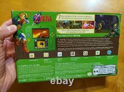 Nintendo 2DS Legend of Zelda Ocarina of Time 3D Green Console Link Edition READ