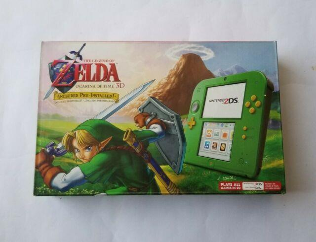 Nintendo 2ds Link Edition + The Legend Of Zelda Ocarina Of Time 3d Green Console
