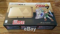 Nintendo 3DS XL Gold Legend of Zelda Link Between Worlds Limited Ed. System NEW