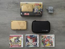 Nintendo 3DS XL Legend of Zelda Link Between Worlds Edition Console BUNDLE