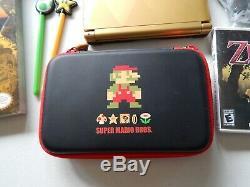 Nintendo 3DS XL The Legend of Zelda A Link Between Worlds Lot Case & Game Guide