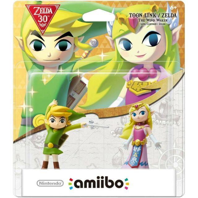 Nintendo Amiibo The Legend Of Zelda 30th Anniv. Wind Waker Toon Link Toon Zelda