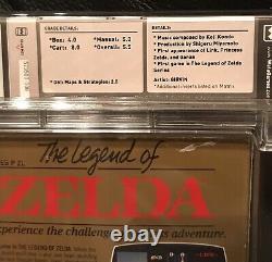 Nintendo Legend of Zelda WATA 5.5 CIB First Print TM Link TV show Nice cartridge