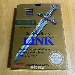 Nintendo NES Boxed Game Legend of Zelda II 2 The Adventure of Link