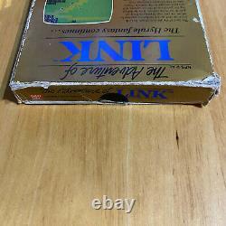 Nintendo NES Boxed Game The Legend of Zelda II 2 The Adventure of Link
