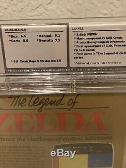 Nintendo The Legend Of Zelda WATA 7.5 Nintendo NES vga Game Link CIB Not Sealed