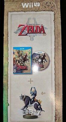 Nintendo Wii U The Legend of Zelda Twilight Princess HD + Wolf Link Amiibo NEW
