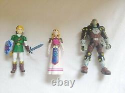 Ocarina of Time Legend of Zelda Ganondorf Link Vintage Figures LOT 1998 Nintendo