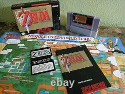 Rare The Legend of Zelda Link to the Past Super Nintendo Game in Box withBox SNES