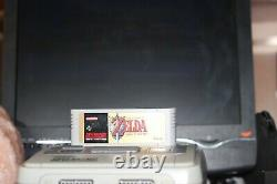 SUPER NINTENDO SNES PAL con cavi + THE LEGEND OF ZELDA A LINK TO THE PAST TESTED