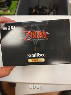 Sealed! New Legend of Zelda Twilight Princess HD + Wolf Link Amiibo -Wii U