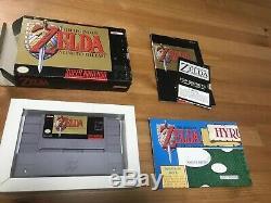 Snes Legend of Zelda A Link to the Past complete in box super nes nintendo maps
