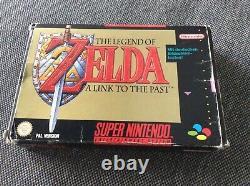 Super NINTENDO SNES Legend of ZELDA a link To The Past OVP Komplett CIB Boxed