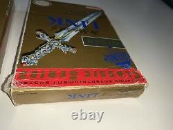 THE LEGEND OF ZELDA & The Adventure Of Link Nes Grey Set withboxes VGC Labels Rare
