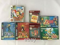 The LEGEND OF ZELDA LINK'S AWAKENING MINISH CAP FOUR SWORDS TRIFORCE Nintendo GB