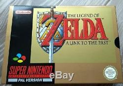 The Legend Of Zelda A Link To The Past PAL Sticker sealed Super Nintendo SNES
