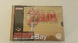 The Legend Of Zelda A Link To The Past PAL partially sealed Super Nintendo SNES