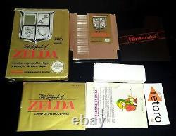 The Legend Of Zelda Nes Nintendo Pal España Dorado Completo Buen Estado Link