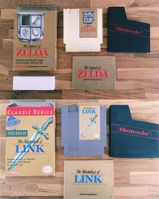 The Legend Of Zelda + The Adventure Of Link Nintendo Nes Gold Cartridge