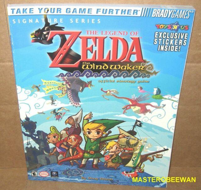 The Legend Of Zelda Wind Waker Strategy Guide Book Gamecube New +stickers