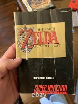 The Legend of Zelda A Link To The Past SNES With Manual & Map Tested Working