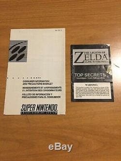 The Legend of Zelda A Link To The Past Super Nintendo CIB Complete SNES