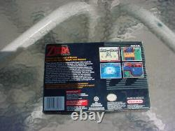 The Legend of Zelda A Link To The Past Super Nintendo SNES With Box & Booklets etc