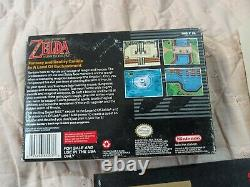 The Legend of Zelda A Link to the Past + Box Manual Game (Super Nintendo SNES)