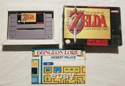 The Legend of Zelda A Link to the Past Box and map. Authentic SNES