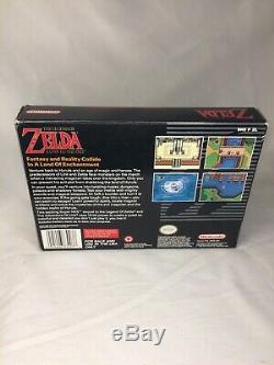 The Legend of Zelda A Link to the Past Complete CIB Super Nintendo SNES