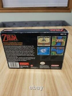 The Legend of Zelda A Link to the Past Complete in Box CIB With Map, SNES