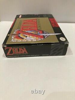 The Legend of Zelda A Link to the Past Complete in Box CIB With Map, Tips SNES