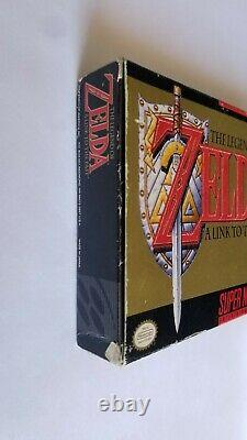 The Legend of Zelda A Link to the Past SNES With Box. Manual. Top Secrets Notes