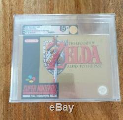 The Legend of Zelda A Link to the Past Snes VGA GOLD grade Nintendo