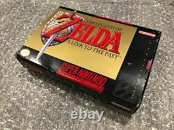The Legend of Zelda A Link to the Past (Super Nintendo SNES, 1992) Complete CIB