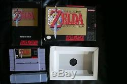 The Legend of Zelda A Link to the Past Super Nintendo SNES CIB Box Complete Lot