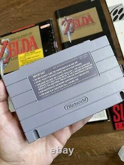 The Legend of Zelda A Link to the Past Super Nintendo SNES CIB Box Complete NICE