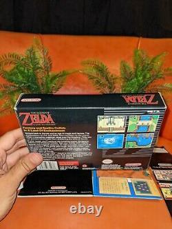 The Legend of Zelda A Link to the Past Super Nintendo SNES CIB Box Map Complete