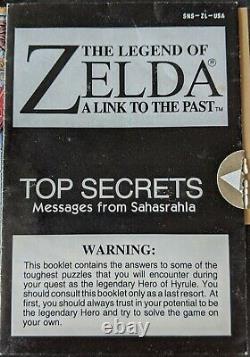 The Legend of Zelda A Link to the Past Super Nintendo SNES CIB Complete MINT