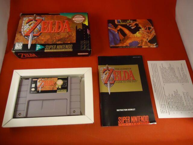 The Legend Of Zelda A Link To The Past Super Nintendo Snes Complete With Box #k1
