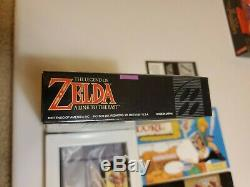 The Legend of Zelda A Link to the Past Super Nintendo SNES COMPLETE with Map Box