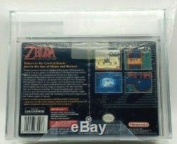 The Legend of Zelda A Link to the Past Super Nintendo SNES New WATA VGA Grade 80