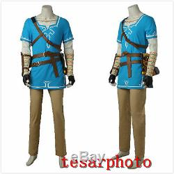 The Legend of Zelda Breath of the Wild Link Cosplay Kostüm Full set Uniform NEU